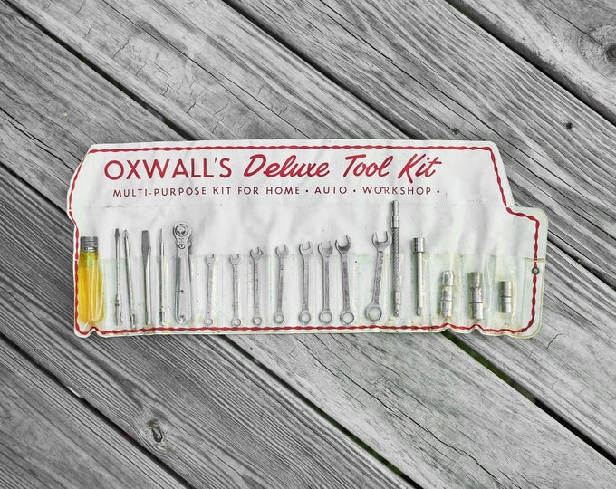 Vintage Oxwall's Deluxe Tool Kit for Home or Auto