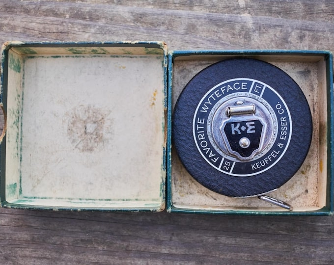 Keuffel and Esser Company Wyteface 25 ft Tape steel tape in the original box
