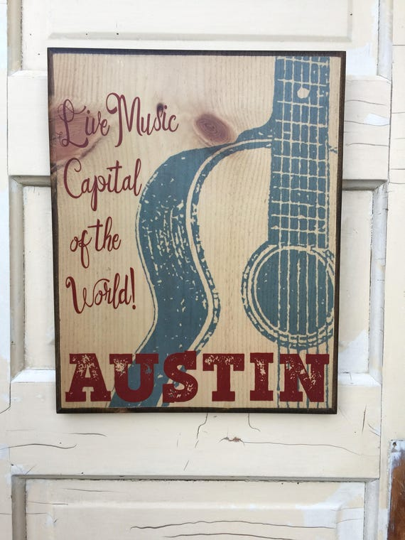 Austin Texas Print, Austin City Limits Sign, Live Music Capital of the World Art, Austin Music Decor, Austin Live Music Capital Art Print