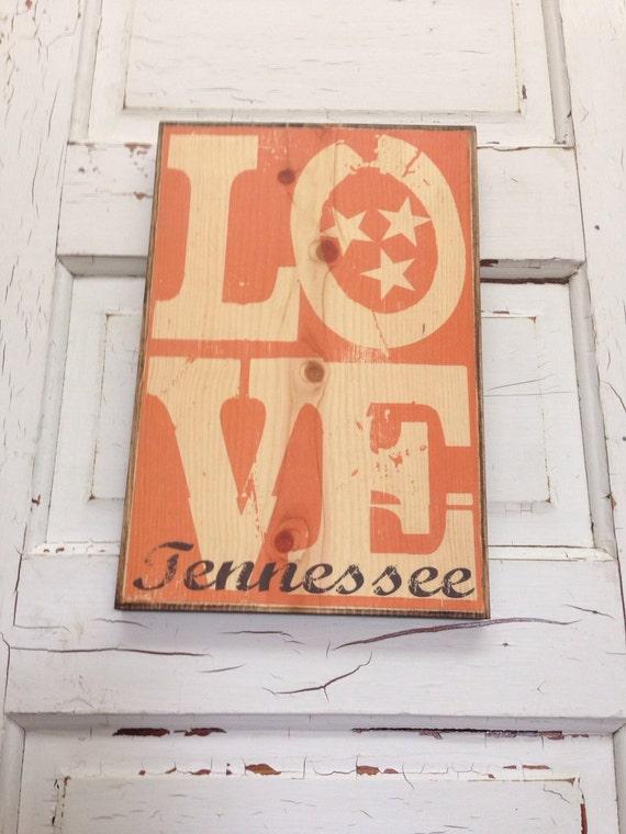 University of Tennessee Sign Vols Typography Wood- UT Volunteers- UT Sign- UT Volunteers Decor- Tennessee Art- Tennessee Football Wall Decor