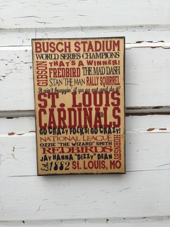 St Louis Cardinals Baseball Print on Wood, Cardinals Baseball Sign, St Louis Print for Him, Boys Room Decor, Baseball Art Guy, Gift For Dad