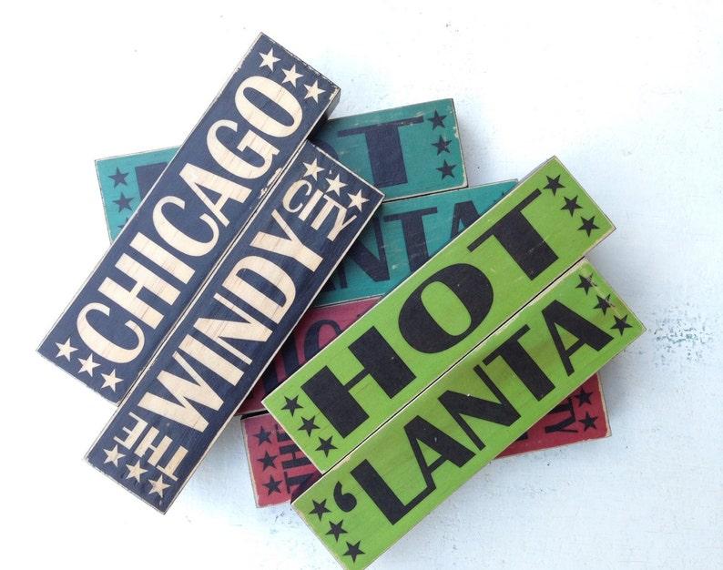 Chicago City Stacks Art Blocks Chicago The Windy City Art image 0