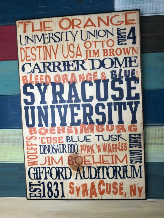 Syracuse University Sign, Syracuse NY University Art, Syracuse Otto Orange Basketball Decor, Boeheimburg, Syracuse Carrier Dome, Destiny USA
