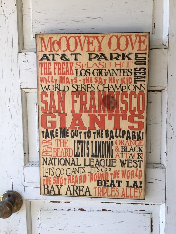 San Fransisco Giants Sign Wood- San Fransisco Giants Art- Giants Decor For Guy- San Fransisco Giants Baseball Decor- Baseball Gift Dad