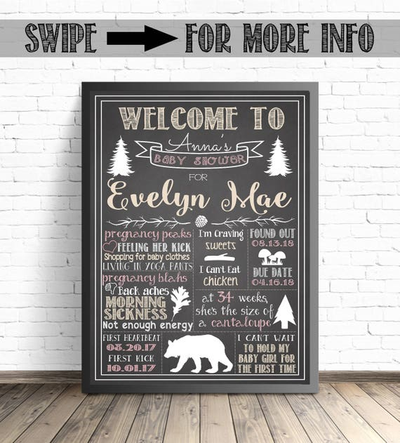 picture relating to Eat More Chicken Printable Sign referred to as Woodland Pets Child Shower Decorations / Printable Poster / Little one Shower Chalkboard Indicator / Rustic Shower Decor / Woodland Forest Pets
