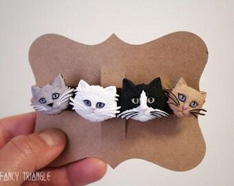 Crazy Cat Lady Barrette   Novelty Cat Hair Clip   Novelty Cat Barrette Hair Pin *For Cat Lovers Gifts*