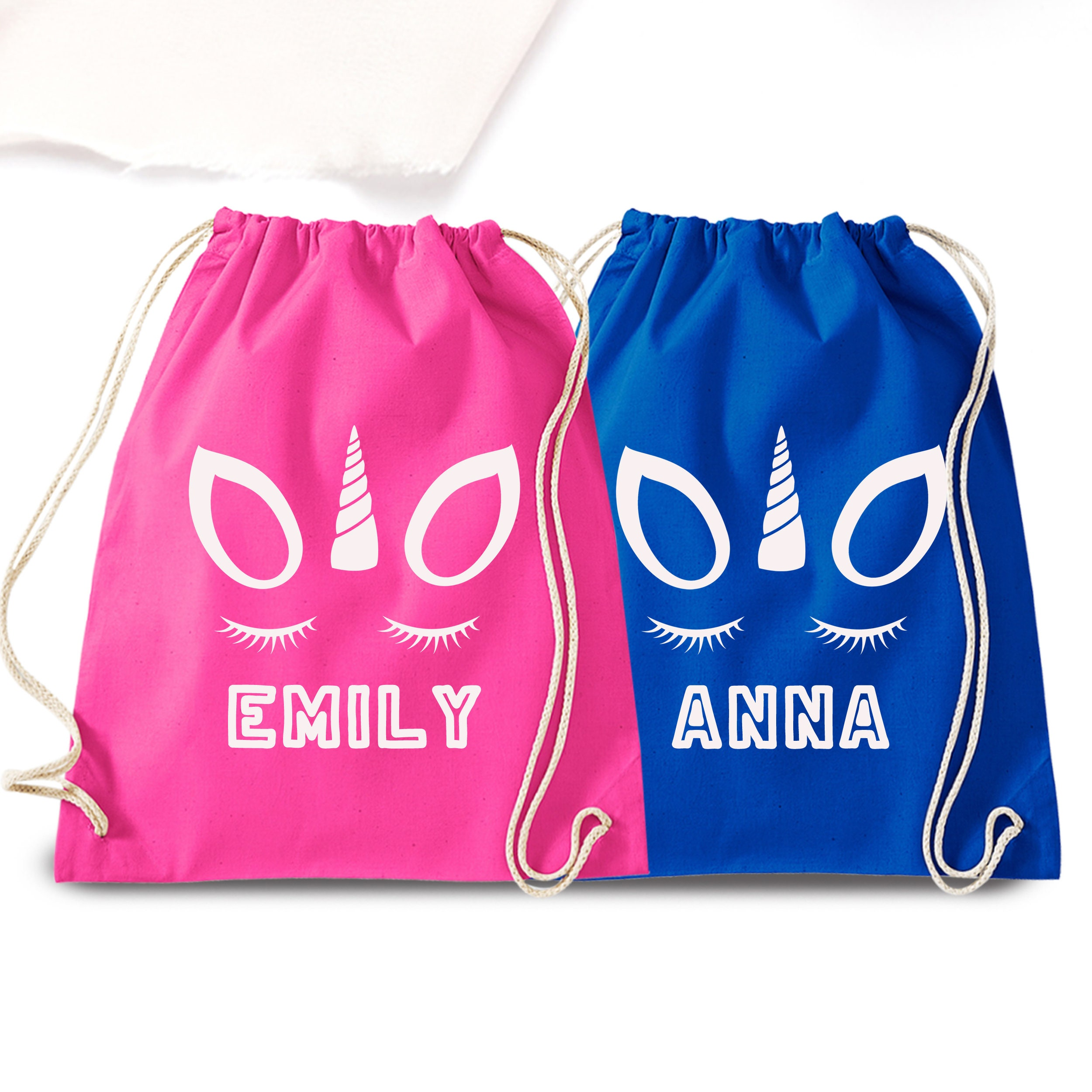 UNICORN Drawstring Gym Bag  School Sports Nursery Rucksack PE Kit Kids Girls