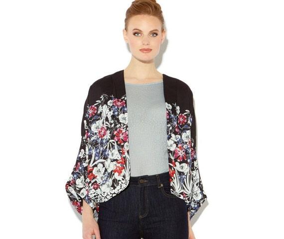 Vintage Biba Kimono Silk Jacket, Boho
