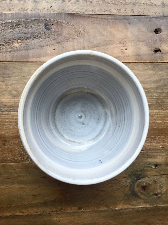 ceramic bowl - beige and white marbled clay-kitchenware