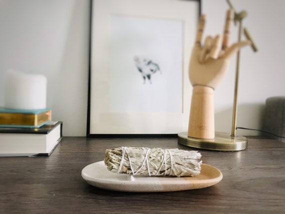 smudge dish-ceramic sage stick dish- handmade ceramics