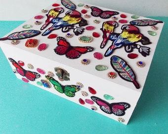 Gift Box Jewelery Box Memory Box Tropical Splender  2