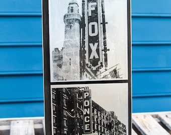 Fox Theater & Ponce City Market Double Metal Wall Art