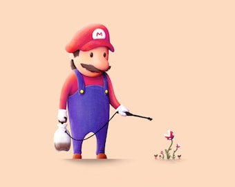 Mario Print / Plants