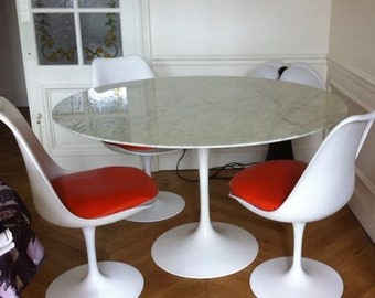 Saarinen Tulip Table Etsy - Eero saarinen tulip table and chairs
