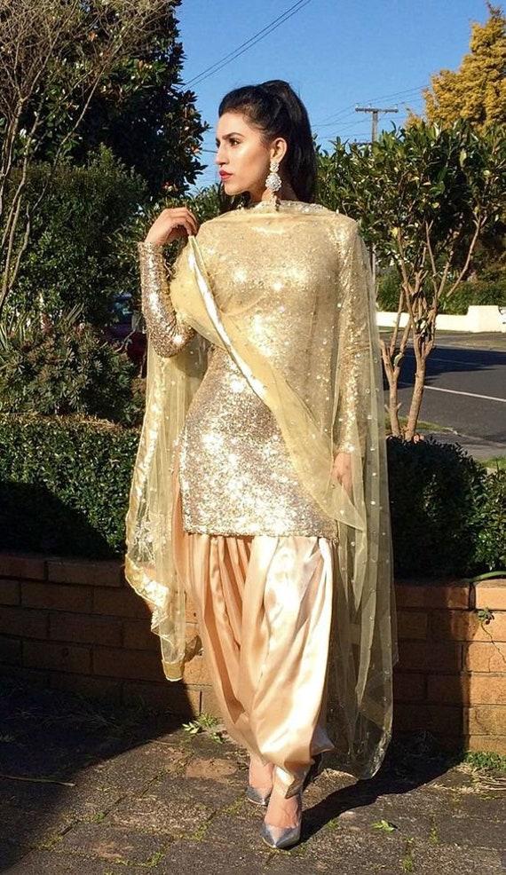 Indian Punjabi Salwar Suit Lehenga Designer Patiala Suit -7945