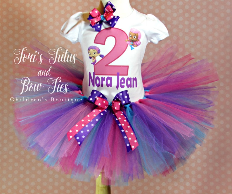 Bubble Guppies Birthday Outfit 1st Party Tutu Set 2nd
