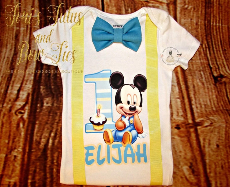db2e71b37 Baby Mickey Mouse 1st Birthday Outfit Baby Mickey Mouse 1st | Etsy