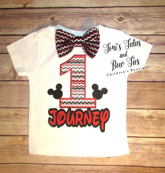 Mickey Mouse Birthday Shirt 1st Baby