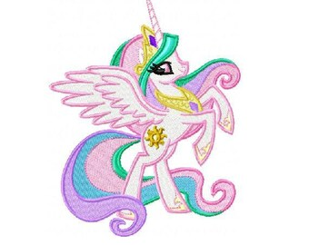 Princess Celestia Embroidery Design in 3 Sizes - Instant Download