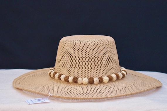 Boho Straw Hat, Handmade Straw Hat, Unisex, Mens Sun Hat, Womens Sun Hat, Wide Brim Hat, Indigenous Made   Biulu Artisan Boutique
