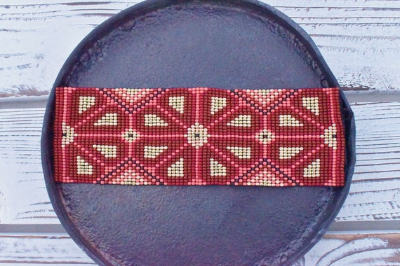 Boho Beaded Bracelet, Native American Beaded Bracelet, Huichol Bracelet, Peyote, Good Luck Charm, Men's Bracelet, Unisex, Indigenous Made
