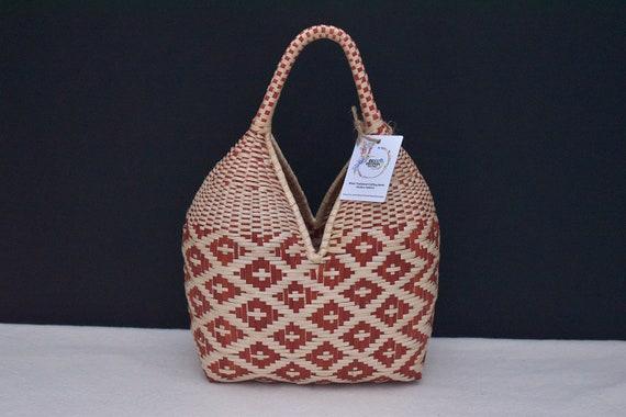 Wicker Handbag, Wicker Basket Bag, Boho Purse, Chic Purse, Handmade Purse, Wicker Bag, Small Purse, Indigenous Made | Biulu Artisan Boutique