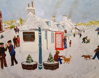 Kirkmichael, Ayrshire, Scotland in the Snow - Fine Art Print