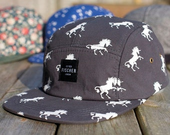 Unicorn Print 5 Panel hat