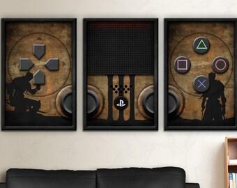 Dark Souls 3 Art, Dark Souls,PS4, Play, Station, Play Station 4, Dark Souls 3, PS4 Playstation Four Art, Sun, PS4 DS3 Controller Print Set