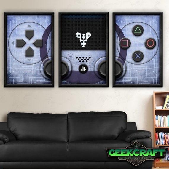 Destiny 2 Poster, Destiny,PS4, Play, Station, Play Station 4, Destiny 2,  PS4 Playstation Four Art, Death, PS4 Destiny 2 Controller Print Set
