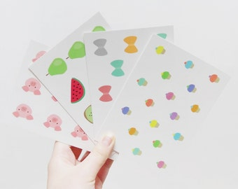 Colourful postcards - Set of 4