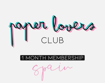 Paper Lovers Club - 1 month subscription - Spain