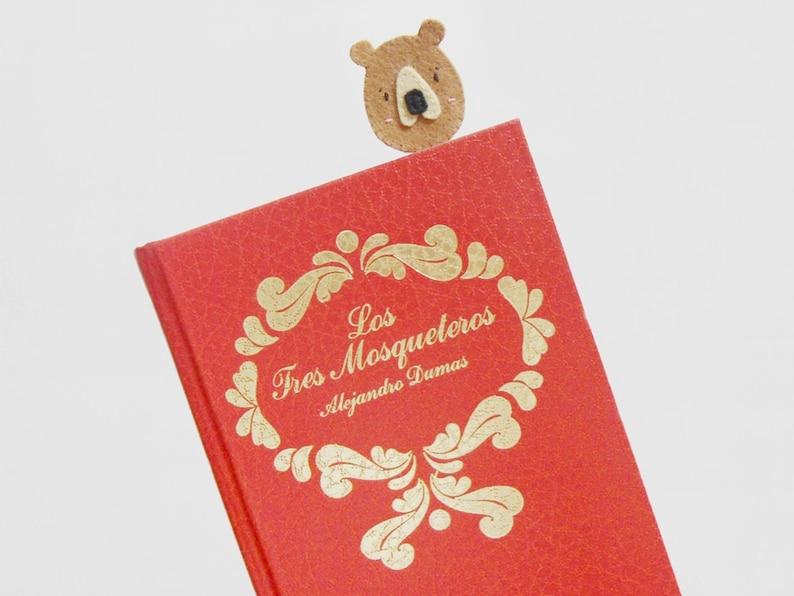 Felt planner clip Felt bear paperclip Cute Filofax clip image 0