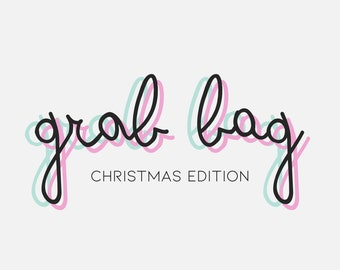 CHRISTMAS EDITION Snail mail grab bag, Stationery random set