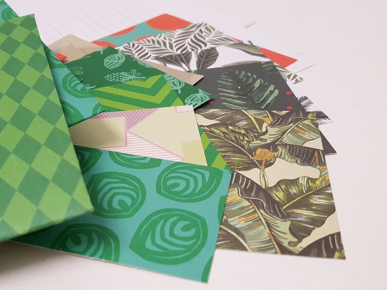 Snail mail kit Letter writing set  Green image 0