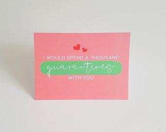 Valentine card, Love greeting card, Quarantine