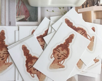 """Microaggression Expression Stickers-""""You're Pretty For a Black Girl"""""""