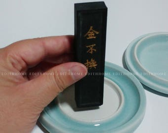 1 Pc Chinese Porcelain Calligraphy Tools Cute Light Green Square Water Drop