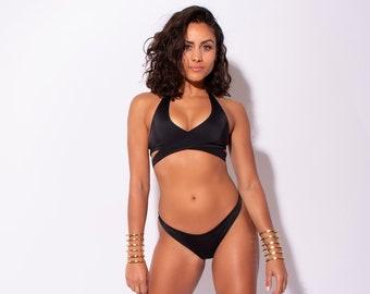Carvico Black Crossover Bikini