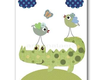 Baby Nursery Decor INSTANT DOWNLOAD art Digital Download Printable Nursery Digital Art Crocodile Download Print Children Art 8x10 11X14