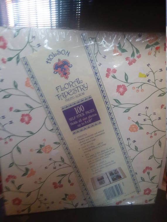 Gilson Floral Tapestry Photo Album 109 Self Stick Pages Holds Etsy