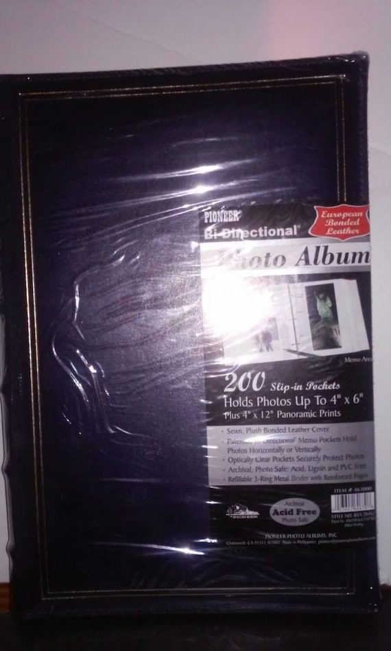 Pioneer Bi Directional Photo Album 200 Slip On Pockets Acid Etsy