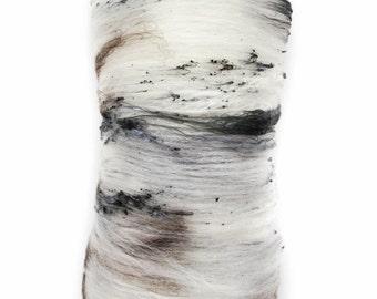 Natural Wool Batt - Spinning Fiber {White Birch} - 4.0 oz - Classic - Hand carded wool - Fiber Art Batt for Spinning, Felting, Weaving