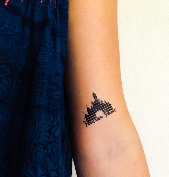 2 disney schloss tempor re tattoos geektat etsy. Black Bedroom Furniture Sets. Home Design Ideas