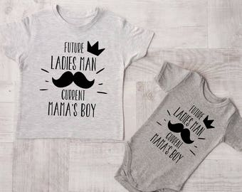 940f6167 Matching Sibling Outfits, Future Ladies Man, Current Mamas Boy, Matching  Sibling Shirts, Big Brother Shirt, Little Brother Shirt