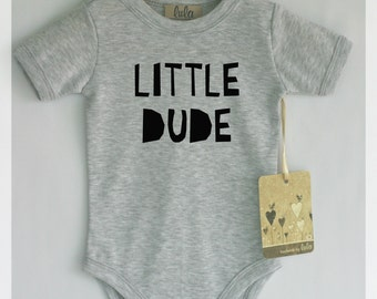 0b82300295f2 Little dude baby clothes. Modern baby clothes, many colors available.