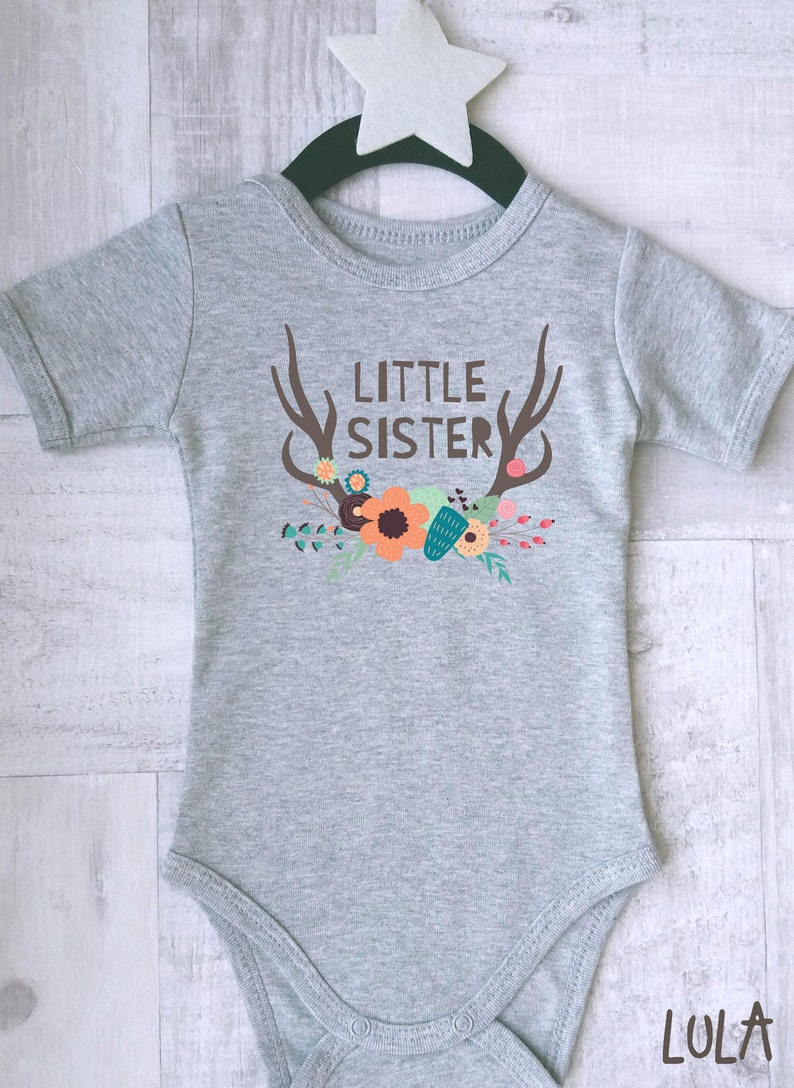 86688cd15 Little sister baby girl clothes. Baby sister bodysuit. Baby | Etsy