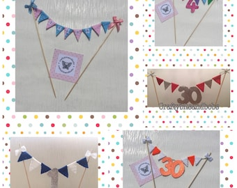 Cake bunting, birthdays, special occasions, wedding, christenings, baby shower, Christmas