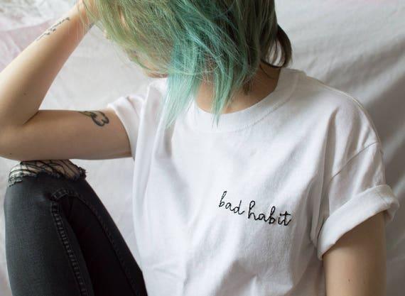 Tumblr A Goth Camisa Regalo Pastel Hecho Medio Mano Etsy De wxqfRnga1