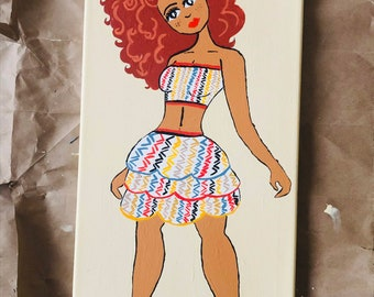 Ginger Acrylic Painting